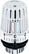 Een Heimeier thermostaatknop, met M30 schroeffitting (standaardmaat)