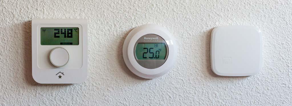 SmartHome WRT, Honeywell Round Wireless T87RF2025 en Heatapp! Sense