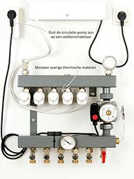 Vloerverwarming zoneregelaar en thermische motoren installeren