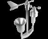 De regenval sensor meet het volume van de regen en de start van de regenval.