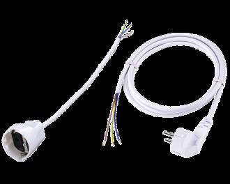 De aansluitkabel set voor de Homematic IP zoneregelaar module bevat alle benodigde kabels om de zoneregelaar en de pomp van de vloerverwarming verdeler professioneel aan te sluiten.