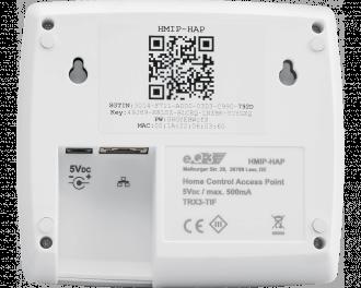Het Access Point wordt aangesloten op modem/router met een meegeleverde netwerkkabel. De benodige 5V-voeding wordt standaard meegeleverd.