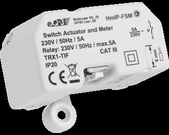 Het ingebouwde relais kan maximaal 1150 Watt schakelen. Dit is 5 Ampere, voldoende vermogen om verlichting of één elektrische verwarming of infraroodpaneel te schakelen.