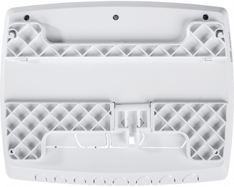 Het montagevlak wordt achterop de warmtepomp module bevestigd en vastgeschroefd met meegeleverde schroeven.