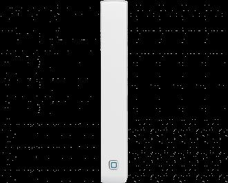 De sensor is een slank apparaatje. De afmetingen zijn 1,5 x 10,2 x 2,0 cm (B x H x D).