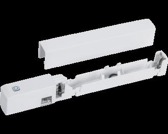 De sensor is een slank apparaatje. De afmetingen zijn 1,6 x 14,7 x 2,0 cm (B x H x D). Rechts boven de optische sensor is de ingebouwde sabotage schakelaar te zien.