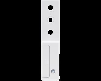 De sensor wordt bevestigd achter de voet van de raamgreep. De vierkante pen van de greep wordt door de sensor gestoken.