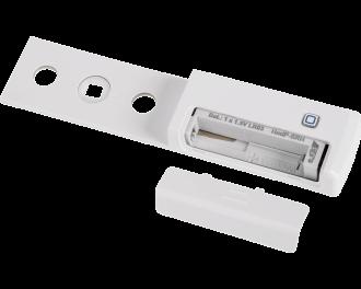 De sensor werkt gemiddeld 1 jaar op een AAA mini penlite batterij. De batterij wordt meegeleverd.
