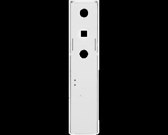 De sensor wordt geklemd tussen het kozijn van het raam en de voetplaat van de raamgreep.