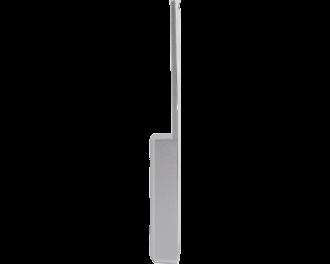 Zilverkleurige behuizing van de Homematic IP raamgreep sensor.