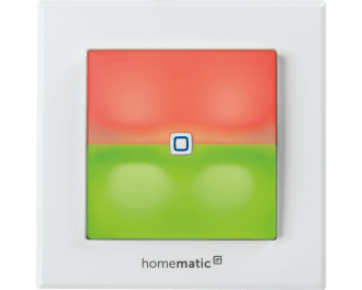 De schakelaar met LED signaallamp wordt toegevoegd aan het Homematic IP systeem via het Access Point. Dit is de hub van het Homematic IP systeem.