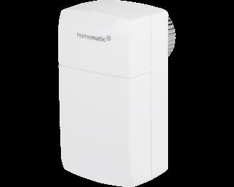 De Homematic IP slimme thermostaatknop compact regelt de toevoer van warm CV water naar een radiator en is bedoeld voor bedrijven, kantoren, scholen, praktijken en vakantieparken.
