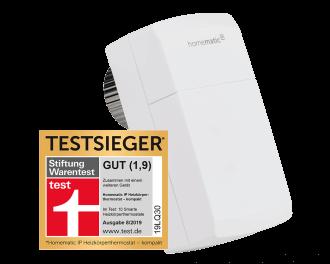 De thermostaatknop is door de duitse consumentenbond als winnaar gekozen uit 10 slimme thermostaatknoppen.