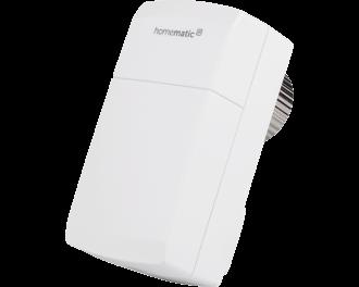 De thermostaatknop bevat geen bedieningselementen of knoppen. Alle aansturing vindt plaats via de gratis Homematic IP app.