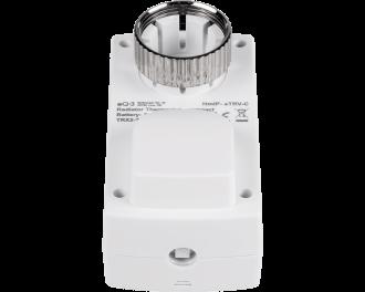 De thermostaatknop is voorzien van een metalen M30 x 1,5mm schroef, geschikt voor standaard afsluiters. Adapters voor Danfoss RA, RAV en RAVL afsluiters worden meegeleverd.