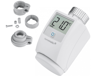 De slimme thermostaatknop wordt toegevoegd aan het systeem via het Access Point. Dit is de hub van het Homematic IP systeem.