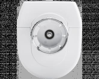 In de slimme thermostaatknop zit een sterk elektrisch motortje. De opening voor de watertoevoer naar de radiator kan tot op 1% nauwkeurig aangestuurd worden.