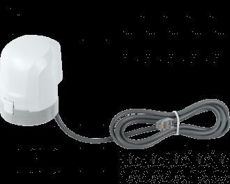 Het stroomverbruik van een stappenmotor is zeer laag, slechts 0,4 Watt tijdens het open gaan of dicht gaan. De afmetingen zijn 4,4 x 5,4 x 5,0 cm.