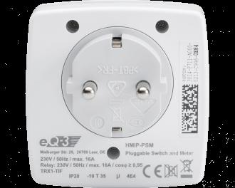 Het ingebouwde relais kan maximaal 3680 Watt / 16 A schakelen. De ingebouwde energiemeter meet het actuele energieverbruik in Watt en het totale energieverbruik in kWh.