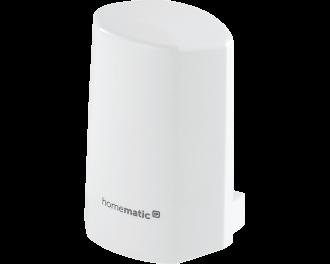 De Homematic IP temperatuur en luchtvochtigheid sensor verzamelt lokale weergegevens en toont deze in de Homematic IP app.