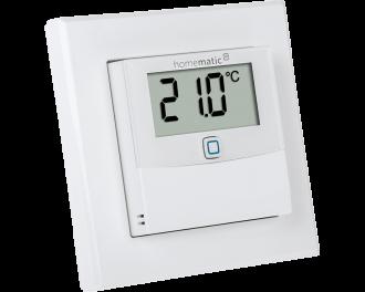 De temperatuursensor bevat geen instelwieltje. De gewenste temperatuur wordt ingesteld via de Homematic IP app.