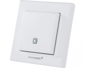 De Homematic IP temperatuursensor meet temperatuur en luchtvochtigheid en is geschikt voor opbouw montage aan de wand.