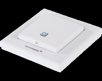 De sensor is draadloos en stuurt Homematic IP thermostaatknoppen, zoneregelaars en schakelaars voor elektrische verwarmingen aan.