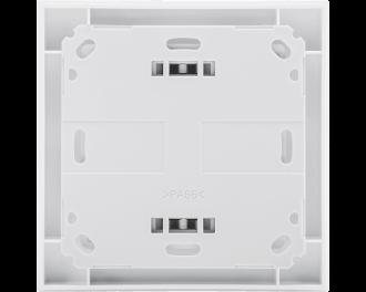 De temperatuursensor kan vlak op een muur bevestigd worden, of vastgeschroefd worden op een verdeeldoos voor elektra.