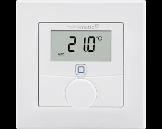 De thermostaat is uitgevoerd in 55 x 55 mm formaat en kan geintegreerd worden in systeem 55 schakelmateriaal van bekende merken.