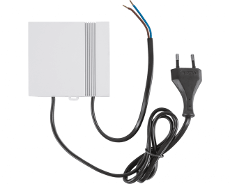 De Homematic IP 24V vooeding dient als stroomvoorziening voor de Homematic IP 24V zoneregelaars voor 6 of 10 kanalen.