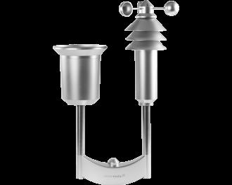 Het Homematic IP weerstation plus meet regenval volume, temperatuur, luchtvochtigheid, windsnelheid en zonlicht sterkte.