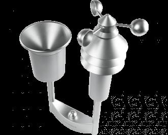 De ingebouwde lichtsterkte sensor meet ook het aantal zonuren per dag.