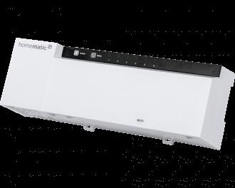De Homematic IP zoneregelaar maakt het mogelijk om vloerverwarming individueel per kamer aan te sturen. Er kunnen meerdere zoneregelaars toegepast worden in een huis.