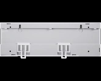 De zoneregelaar kan gemonteerd worden aan twee schroeven, of kan eenvoudig bevestigd worden op de meegeleverde DIN-rail.