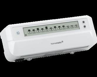 Proportioneel betekent dat de vloerverwarming traploos tussen 0% en 100%  aangestuurd kan worden. De zoneregelaar wordt aangestuurd door draadloze Homematic IP thermostaten en temperatuursensoren in verschillende kamers in huis.