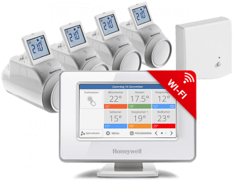 Honeywell Evohome Wi-Fi thermostaatknop OpenTherm pakket ATP954M3020
