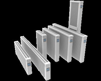 Overzicht van alle Thermotec elektrische radiatoren met ingebouwde thermostaat.