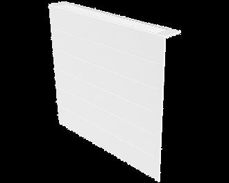 Stijlvolle metalen radiatorbekleding en design front met duurzame poedercoating in kleur wit, RAL 9010. Geschikt voor 1300 Watt elektrische radiator. Kan eenvoudig over de radiator geplaatst worden, zonder boren of schroeven.