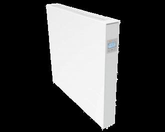 De radiatorbekleding wordt met sterke magneten vastgeklemd aan de elektrische radiator. Getoond model in dit voorbeeld: 1300 Watt elektrische radiator.