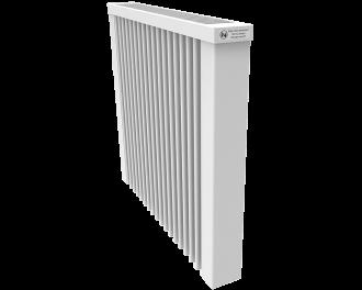 Thermotec elektrische radiator 1300 watt, zonder ingebouwde thermostaat. Geschikt voor ruimtes tot 31 m3 in een ongeïsoleerde woning tot bouwjaar 1975 met energielabel D of lager, of 43 m3 in een matig geïsoleerde woning tot bouwjaar 2005 met energielabel C, of 59 m3 in een goed geïsoleerd woning tot bouwjaar 2021 met energielabel B of hoger.