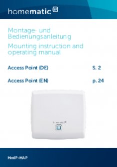 Handleiding van Homematic IP Access Point