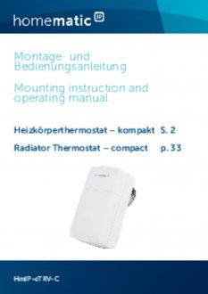 Handleiding van Homematic IP Thermostaatknop compact