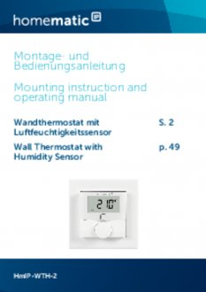 Handleiding van Homematic IP Thermostaat