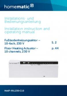 Handleiding van Homematic IP Zoneregelaar 10 kanalen - 230V