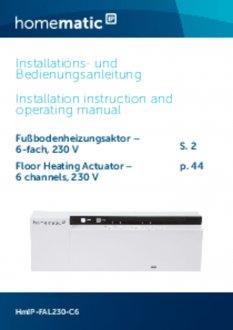 Handleiding van Homematic IP Zoneregelaar 6 kanalen - 230V