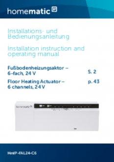 Handleiding van Homematic IP Zoneregelaar 6 kanalen - 24V
