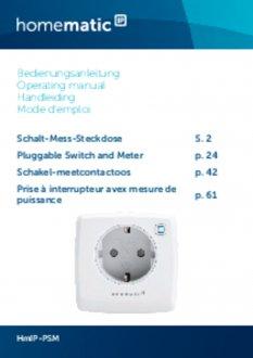Handleiding van Homematic IP Stekkerschakelaar 3680 Watt - met energiemeter