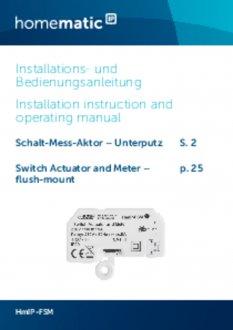Handleiding van Homematic IP Inbouw schakel module 1150 Watt - met energiemeter