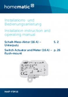 Handleiding van Homematic IP Inbouw schakel module 2750 Watt - met energiemeter