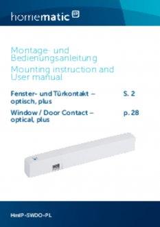 Handleiding van Homematic IP Raam- en deursensor plus